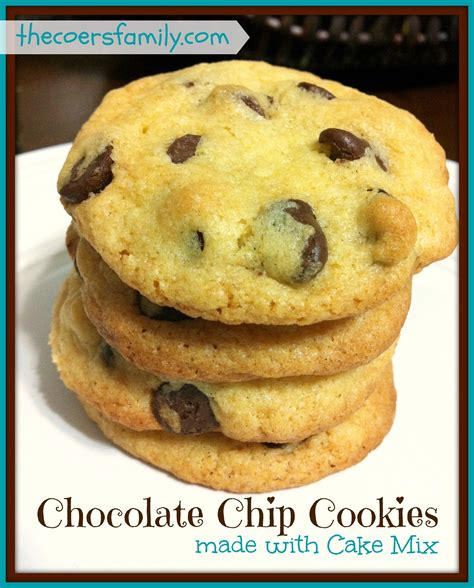chocolate chip cake mix cookies coers family