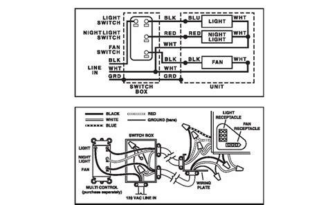 broan fan light nightlight wiring multi control switch