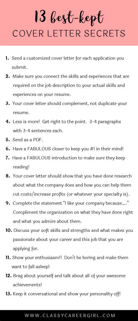 13 cover letter secrets cover letter resume cover