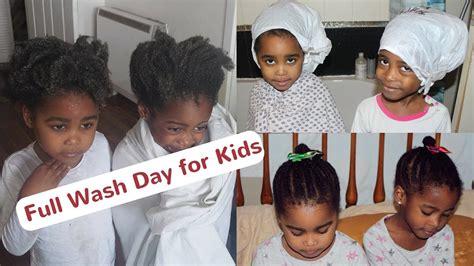 kids 4c hair full wash day routine collab