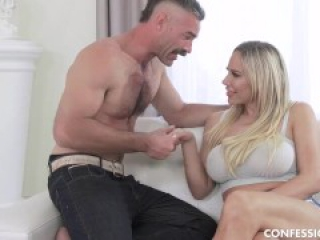 Big Tit Blonde Gets Deepthroated and Plowed by A Construction Worker