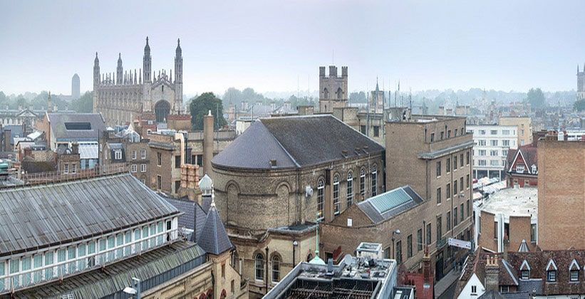 Cidade de Cambridge na Inglaterra