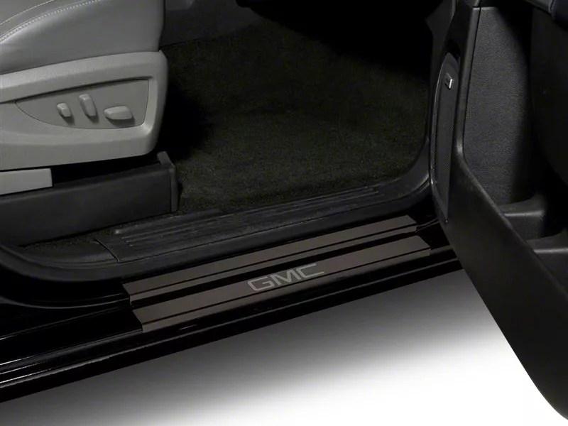 Putco Sierra Black Platinum Door Sills W Gmc Logo S502718