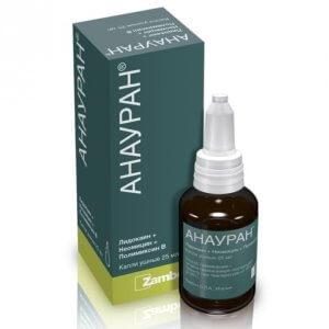 Анауран обладает антибактериальными и местноанестезирующими свойствами