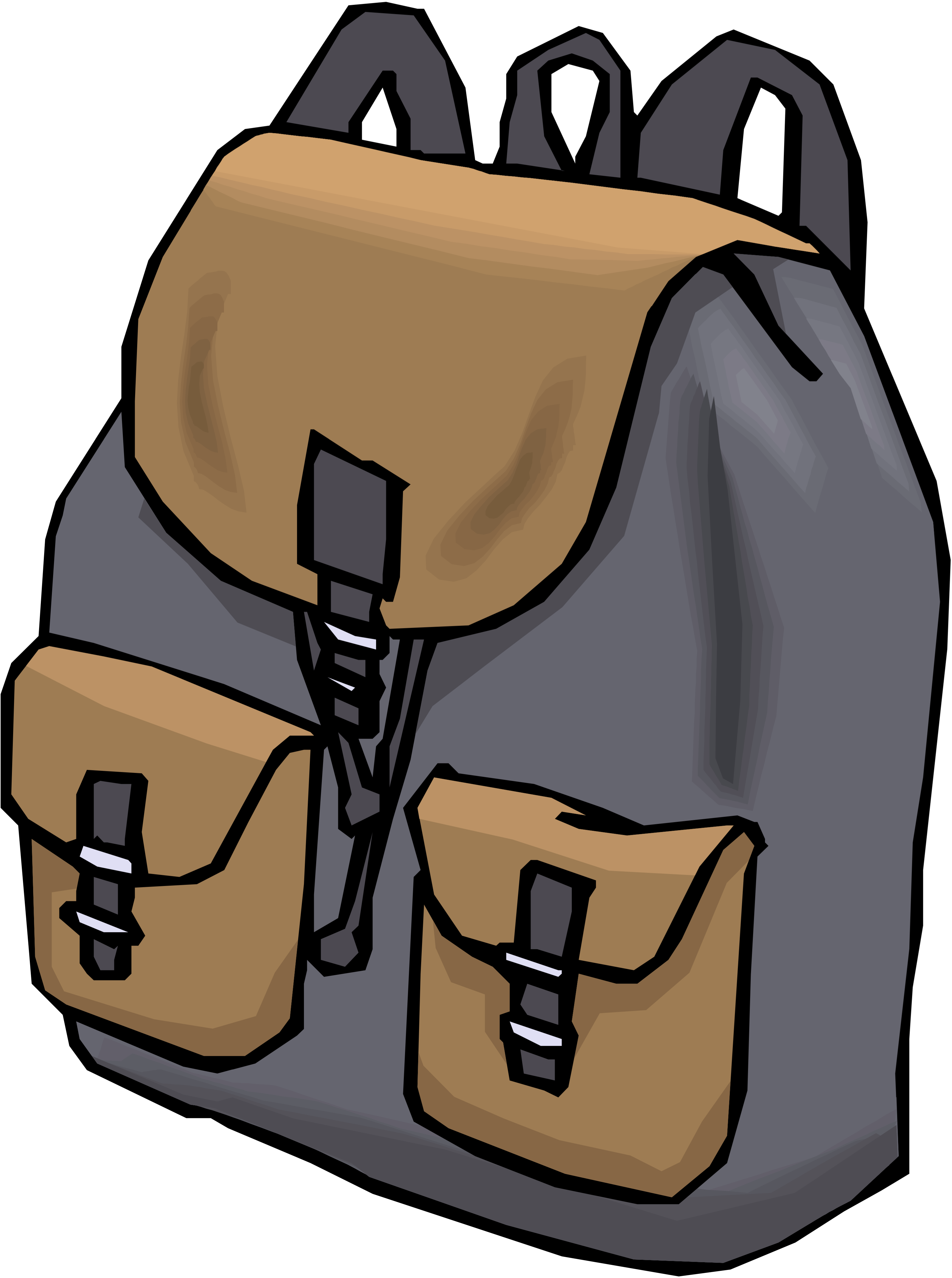 open backpack picture - 597×800