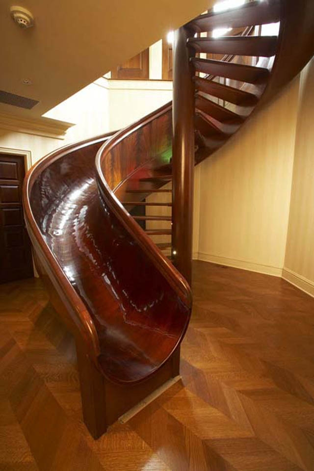 10 Awesome Stairs With Slides «Twistedsifter   Spiral Staircase Into Basement   Stair Railing   Attic Stairs   Stair Treads   Stairway   Staircase Ideas