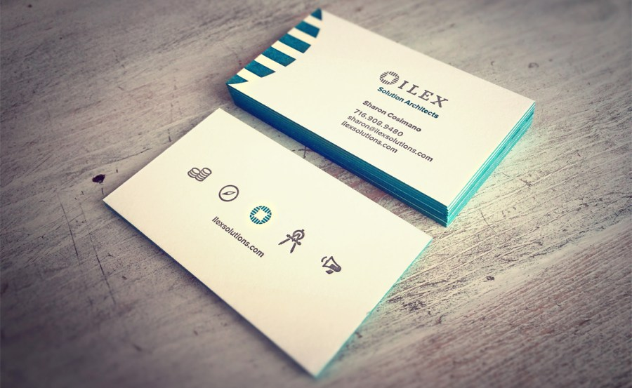 Ilex Consulting Letterpress Business Card Design   Typework Studio     Ilex Consulting Letterpress Business Card Design