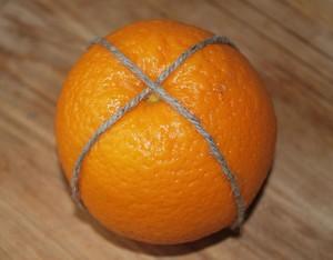 Dilimlerde uygun temizleme turuncu