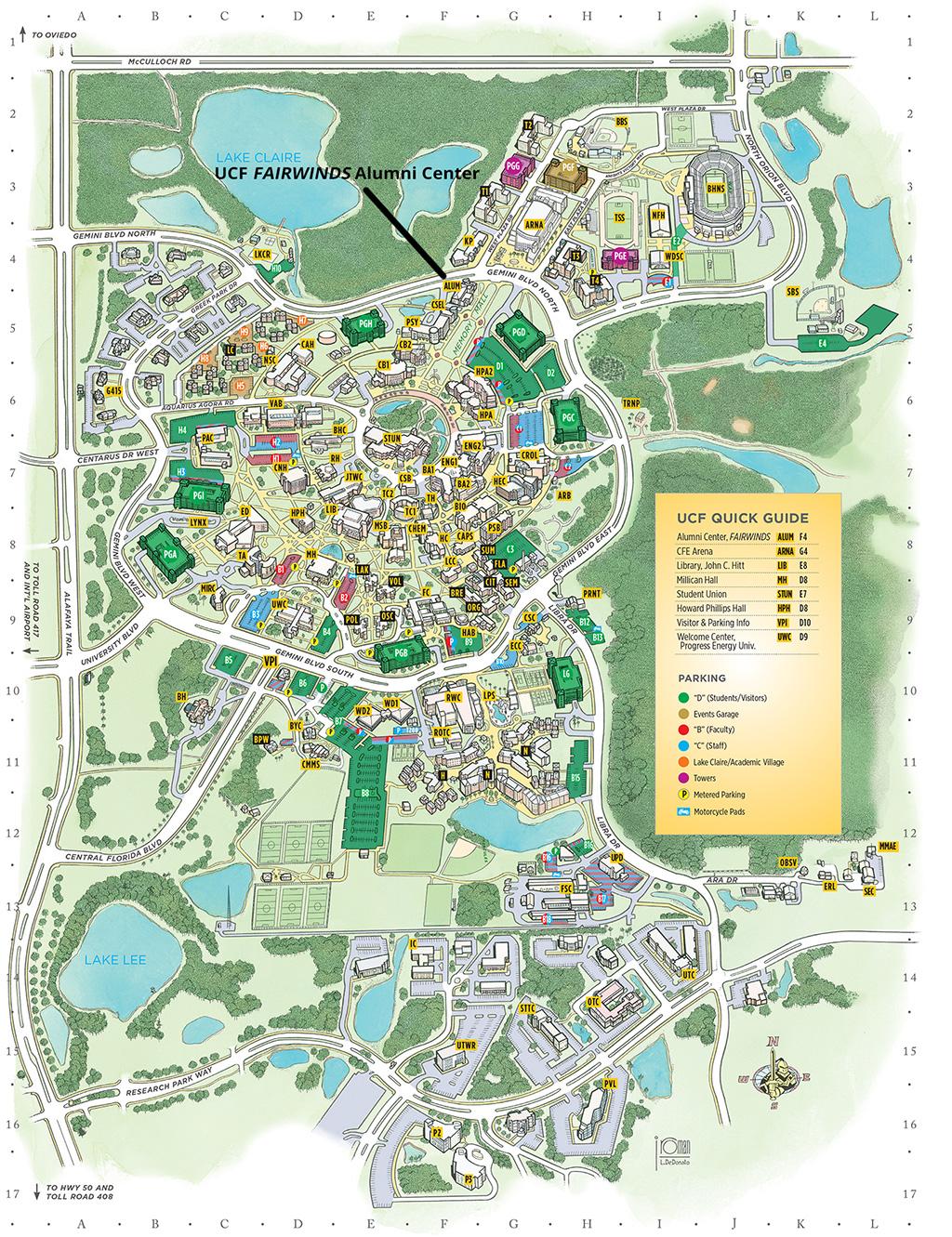 Detailed Map Of Central Florida.Detailed Map Orlando Florida