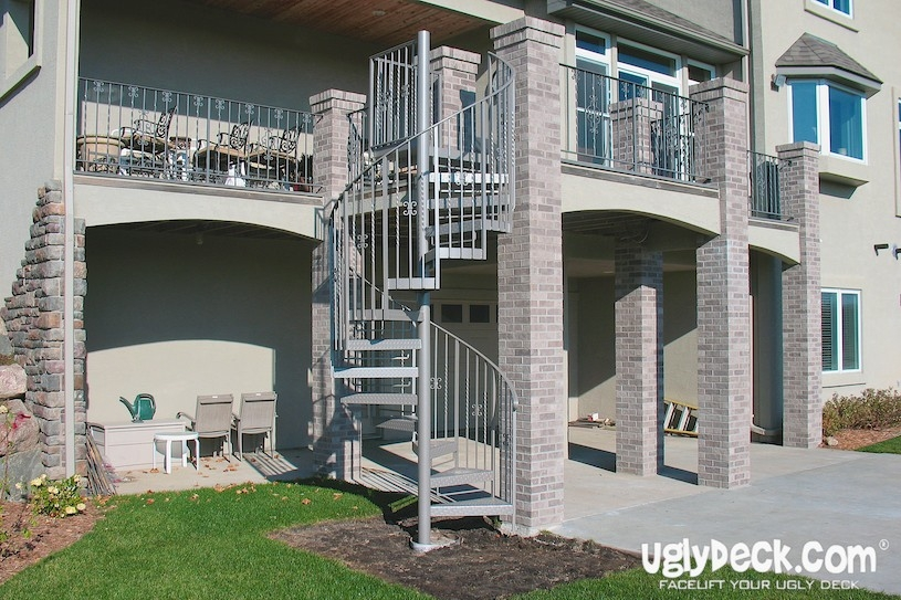 Twin Cities Outdoor Spiral Staircases – Minnesota Deck Builders   Trex Spiral Stairs Cost   Handrail   Trex Transcend   Stair Case   Stair Treads   Powder Coated