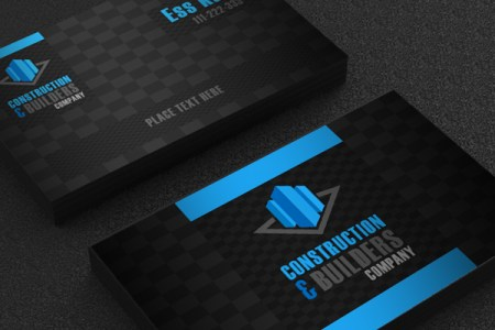 Free Construction Company Business Card Template Design   A Graphic     Free Construction Company Business Card Template Design   A Graphic World