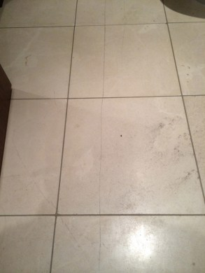 UK BATHROOM Cracked Marble Floor Tiles With Bathroom Installation In Leeds
