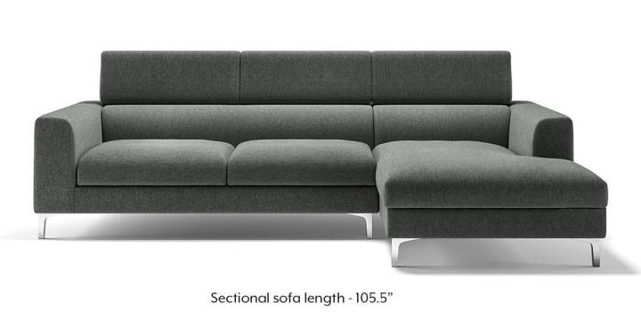 Chelsea Adjustable Sectional Sofa  Grey    Urban Ladder Chelsea Adjustable Sectional Sofa  Grey   Grey  None Custom Set   Sofas