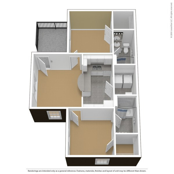 Floor Plans   Virtual Tours   The Courtyards CTY 2 Bedroom 2 Bathroom Standard   unfurnished