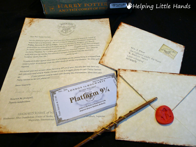 Homemade Harry Potter Gifts