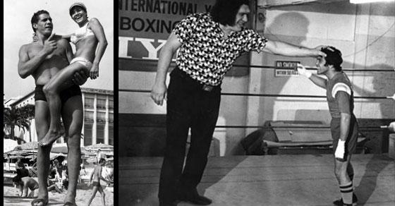 Wilt Chamberlain Andre Giant Next