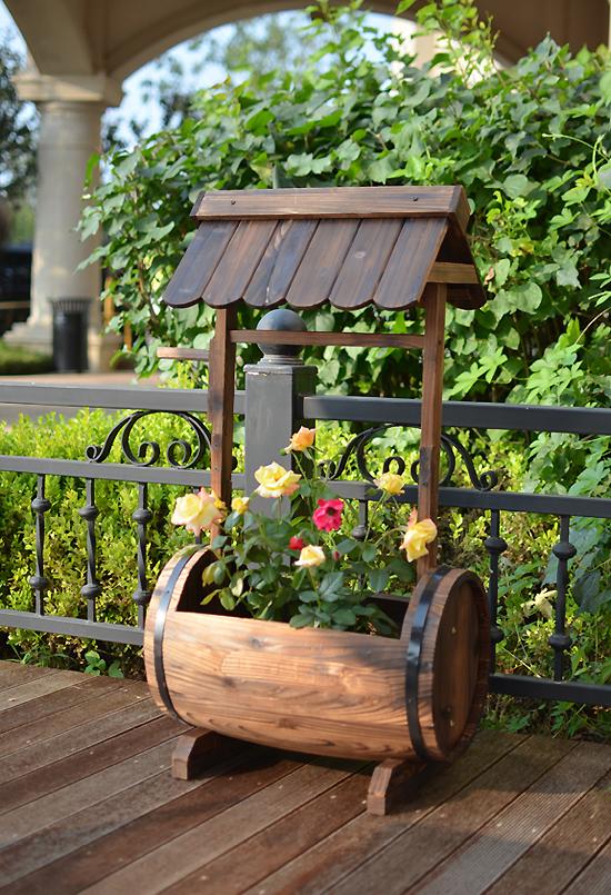 Wooden Patio Planters