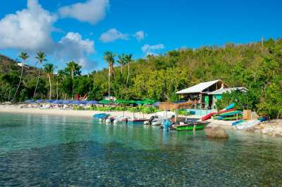 On Water Island, Hide Away From It ALL At Dinghy's Beach Bar