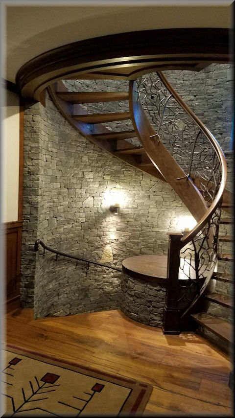 Wooden Spiral Stairs Custom Made By Unique Spiral Stairs | Custom Handrails Near Me | Wood | Balcony | Deck Railing | Powder Coating | Steel
