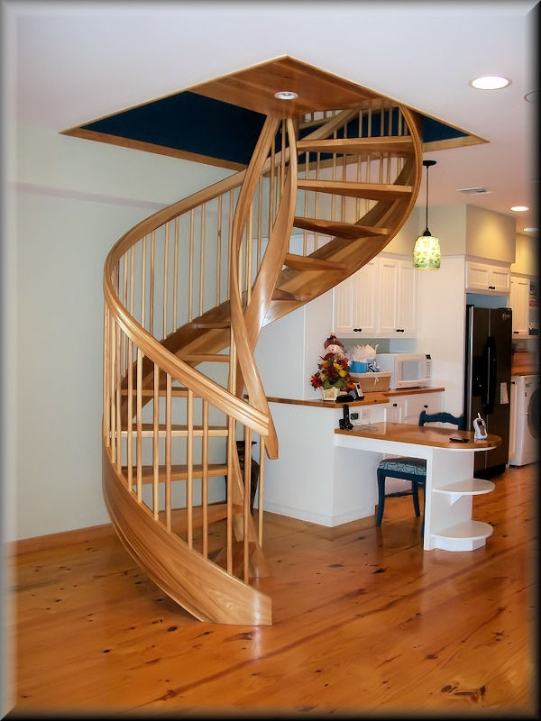 Wooden Spiral Stairs Custom Made By Unique Spiral Stairs   Wooden Stairs Design For Small Spaces   Apartment   Cabinet   2Nd Floor Small Terrace Concrete   Residential   Outdoor