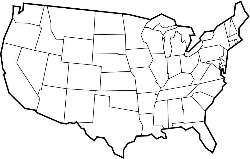 Blank Us Map Printable Worksheet