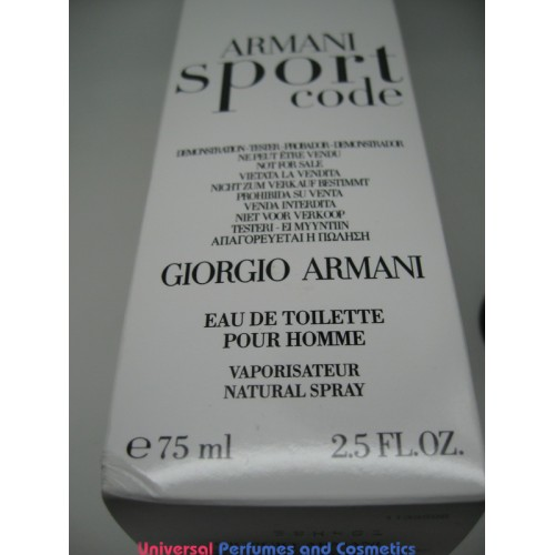 2 Armani Oz 5 Edt Armani 75 Spray Ml Sport Giorgio Men Code