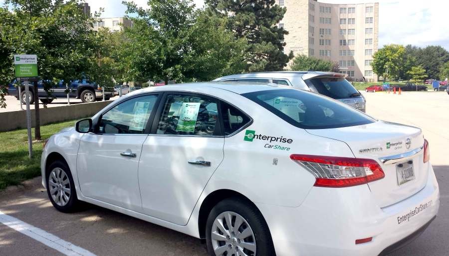 Enterprise CarShare offers affordable rental cars on campus