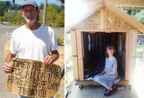 Tiene 9 años y se dedica a cultivar alimentos y construir viviendas para personas sin hogar