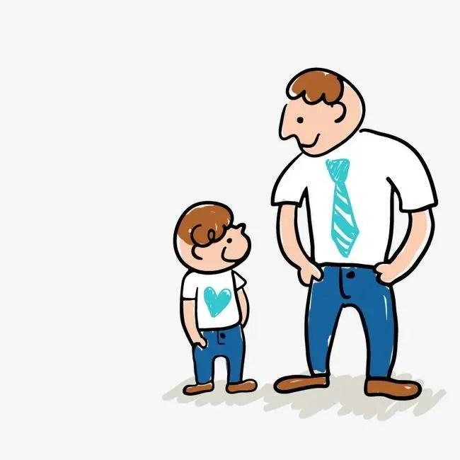 мультяшная картинка отец и сын отличие