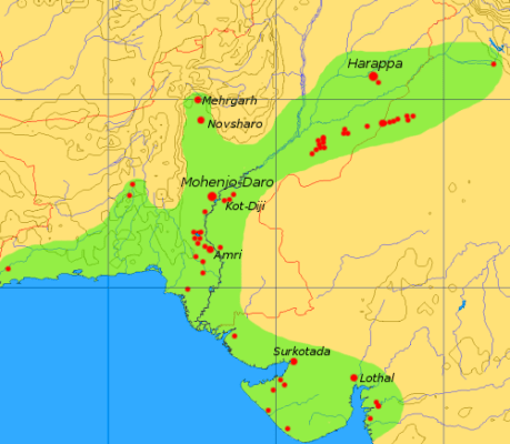 indus valley civilization map - 689×600