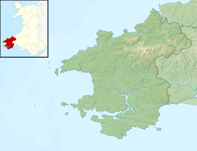 File Pembrokeshire UK relief location map jpg   Wikimedia Commons File Pembrokeshire UK relief location map jpg