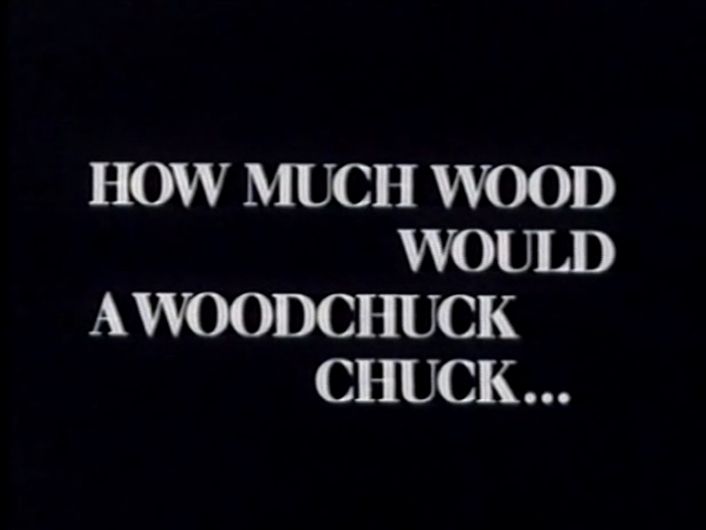 How Much Could Woodchuck Chuck If Wood Chuck Could Chuck Wood