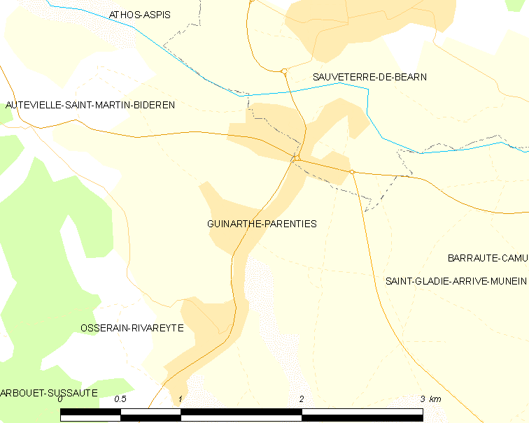 Map Oloron Sainte Marie France