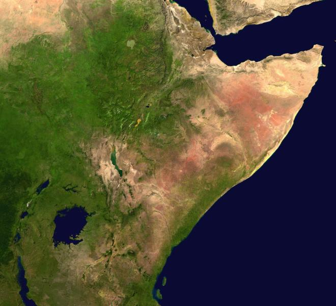 Horn of Africa   Wikipedia The Horn of Africa  NASA image