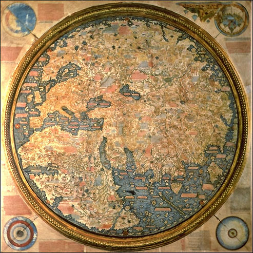 Early world maps   Wikipedia Fra Mauro map  1459