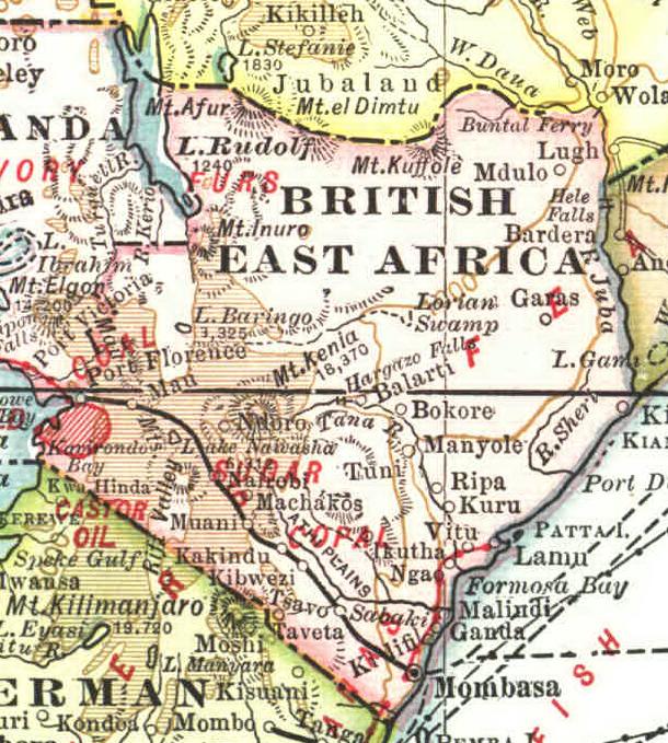 Kenya British Colony Flag