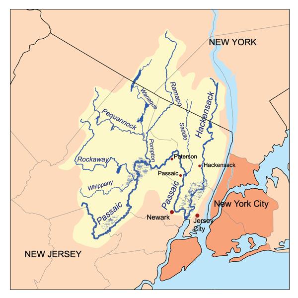 Denville Rockaway New Jersey Area Map
