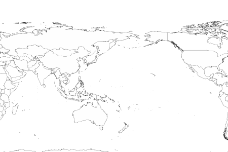 Best world map outline pacific centered image collection printable blank world world map outline with countries labeled fresh printable blank world gumiabroncs Image collections