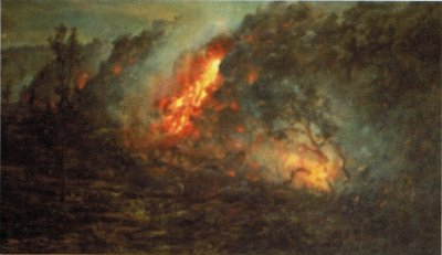 File:'Lava Flow Burning Trees' by D. Howard Hitchcock ...
