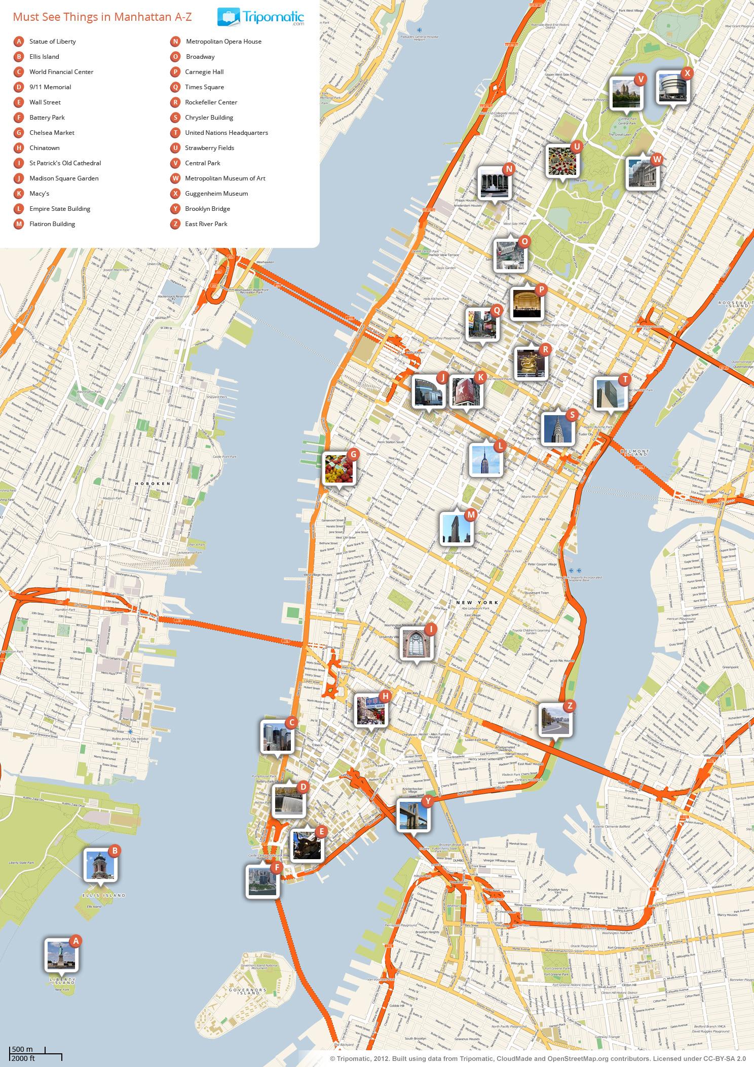 Midtown Manhattan Subway Map Printable