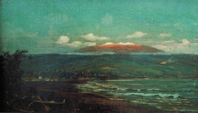 File:'Mauna Kea from Hilo Bay' by D. Howard Hitchcock ...