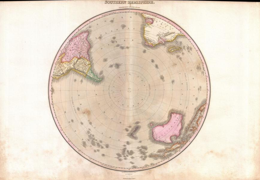 File 1818 Pinkerton Map of the Southern Hemisphere   South Pole     File 1818 Pinkerton Map of the Southern Hemisphere   South Pole  Antarctic