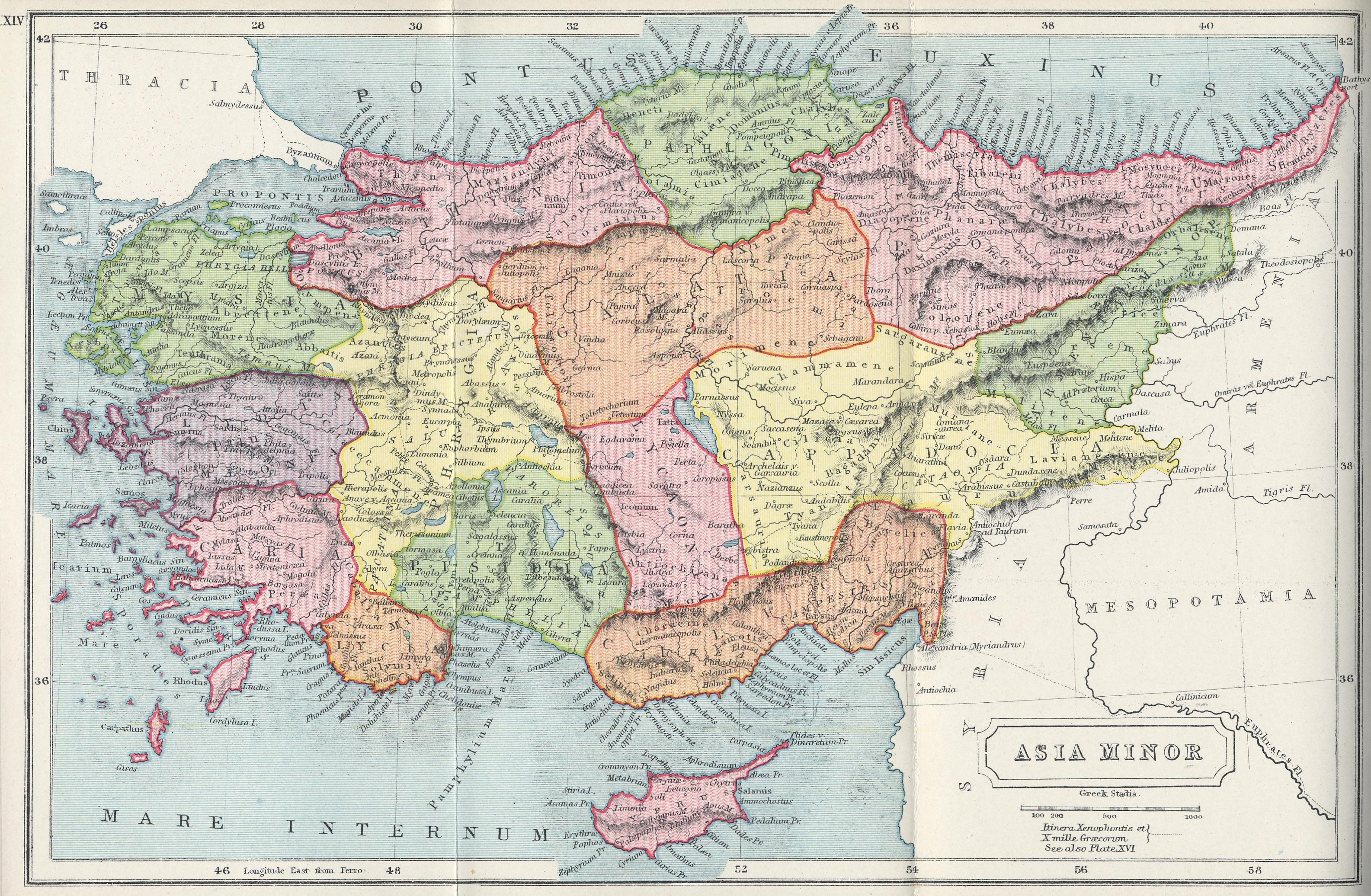 File 1907 map of Asia Minor Atlas of Ancient and Classical Geography     File 1907 map of Asia Minor Atlas of Ancient and Classical Geography by  Samuel