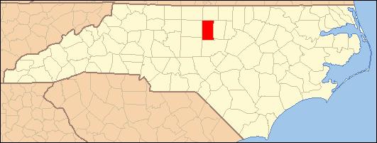 Alamance County North Carolina Map