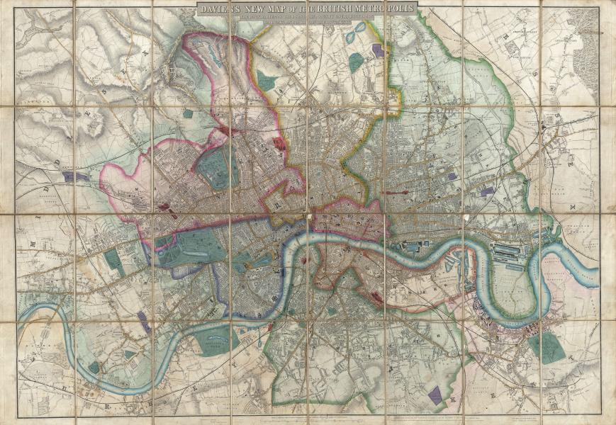 File 1852 Davies Case Map or Pocket Map of London  England     File 1852 Davies Case Map or Pocket Map of London  England   Geographicus