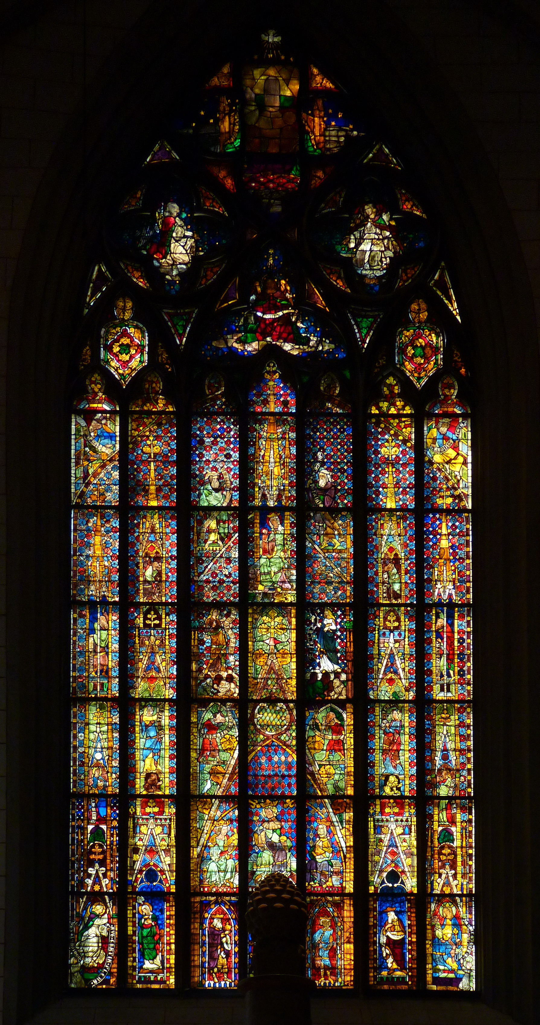 File Augsburg Cathedral Stained Glass Window Jpg