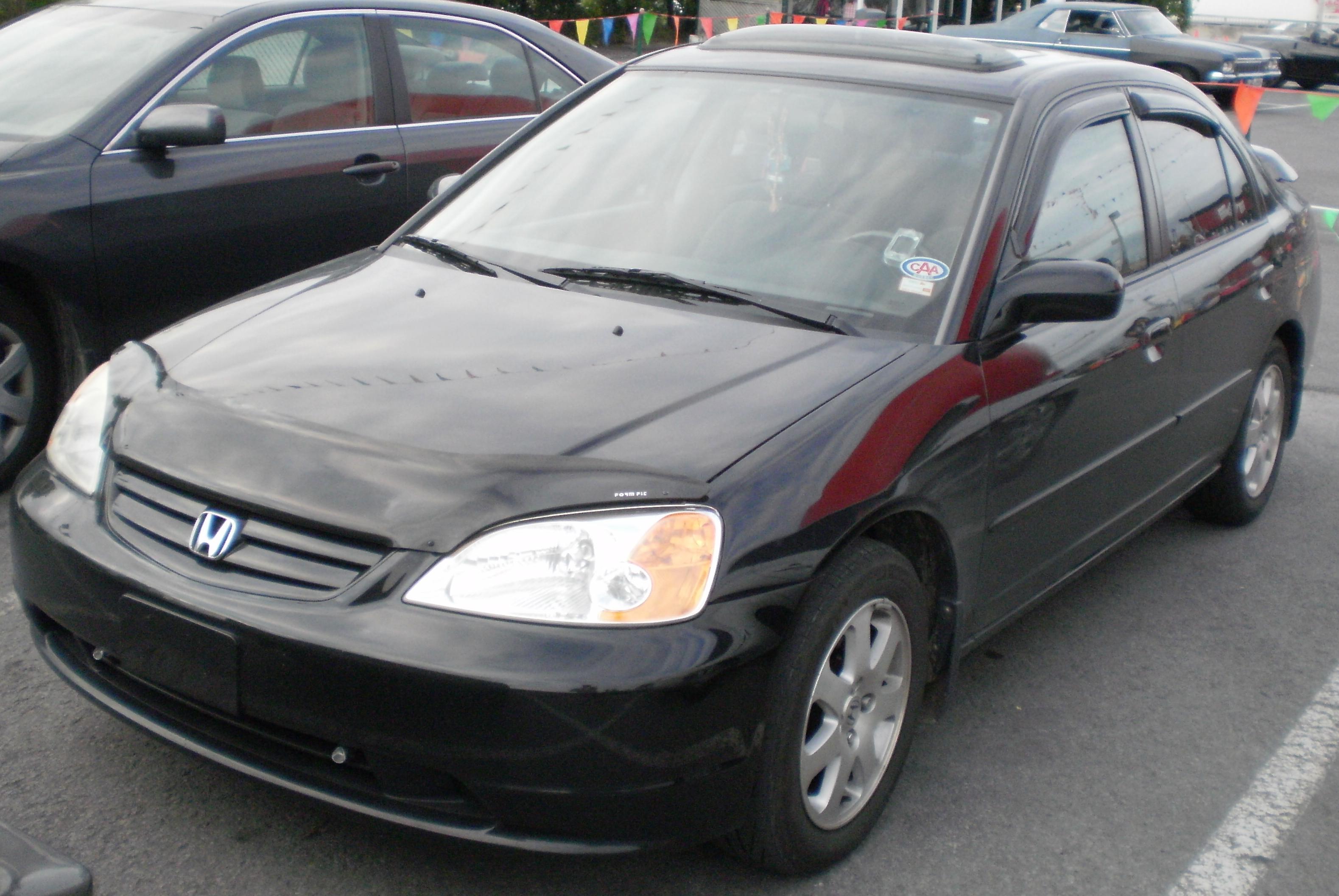 2003 Honda Civic Sedan Orange
