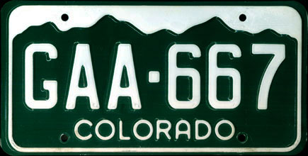 10 Best US State License Plate Designs of All Time   The Cookblog Colorado     1983