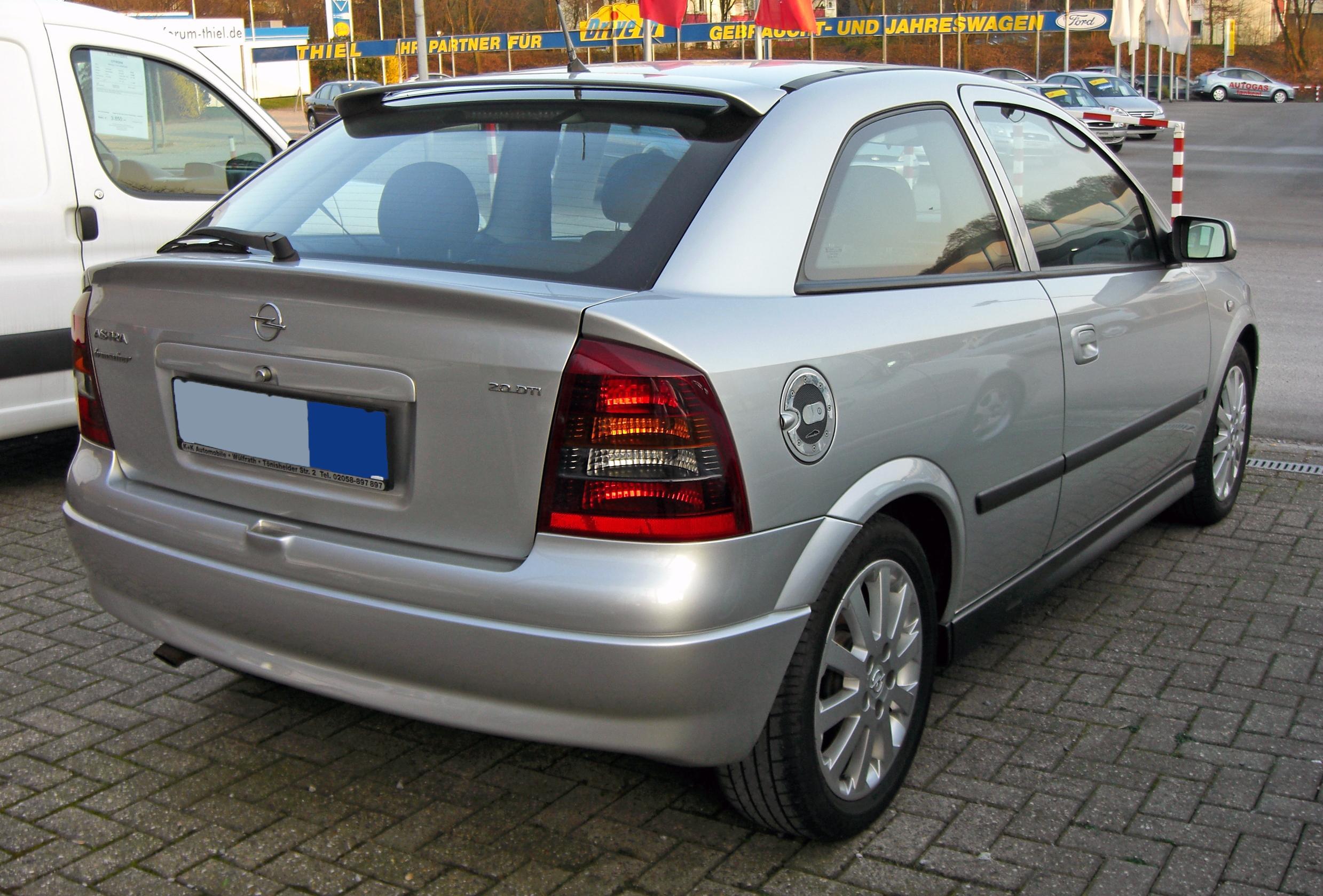 File:Opel Astra G 20090402 rear.JPG - Wikimedia Commons