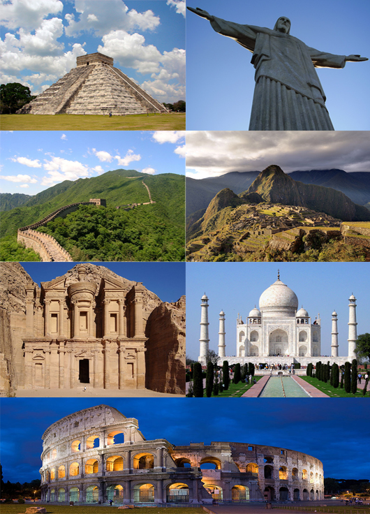 the seven wonders of the world - 530×736